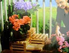 Сделать своими руками подставку для цветов из дерева