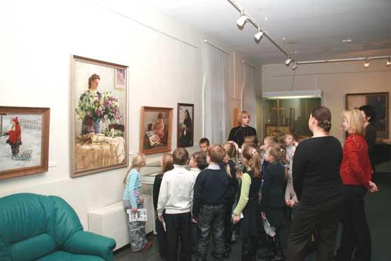 знакомство ребенка с картинами