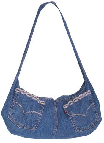 как сделать юбку из старых джинсов.