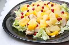 рецепт салата с курицей ананасами и яйцами и