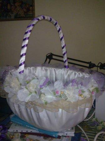 Как сделать свадебные корзины своими руками
