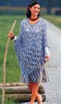 Вязание пончо крючком: схемы