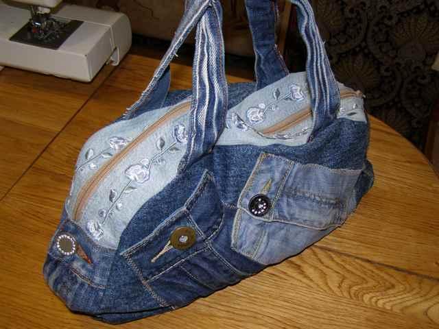 Пошить сумку своими руками из старых джинсов