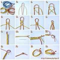 Мужские браслеты из шнурков своими руками схемы