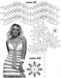 Вязание крючком платья: схемы