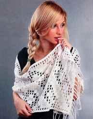 Вязание крючком шали палантины