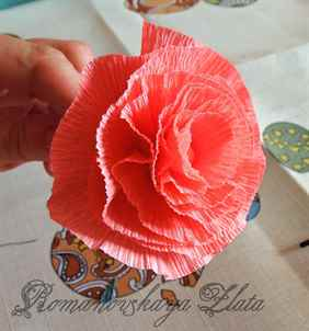 Как сделать цветок из бумаги своими руками - aff