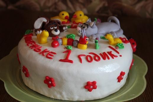 Торт для украшения мастикой своими руками