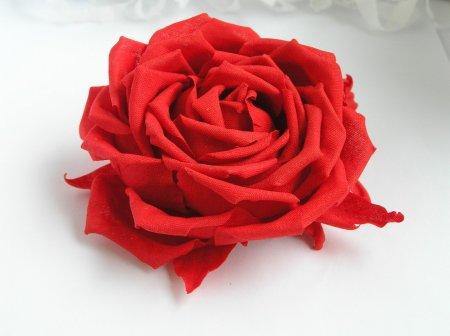Как сделать розу из ткани своими руками, мастер класс