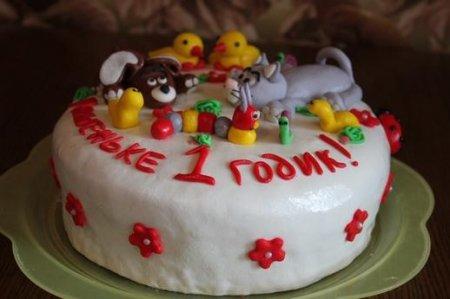 Как украсить детский тортик