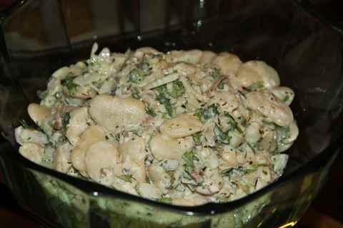 рецепт салата из фасоли консервированной белой фасоли