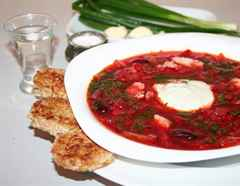 Как приготовить украинский красный борщ со свининой ...