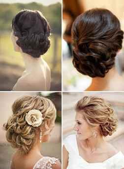 Свадебные прически на средние волосы простые фото