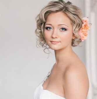 Прическа на свадьбу своими руками короткие волосы