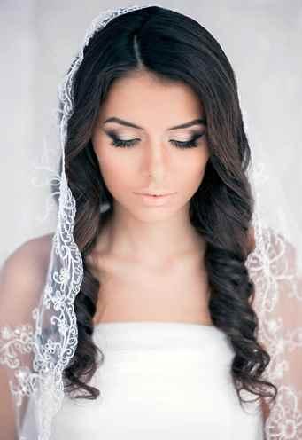 Прически на свадьбу на длинные волосы с фатой фото