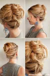 Ежедневные прически на волосы средней длины фото