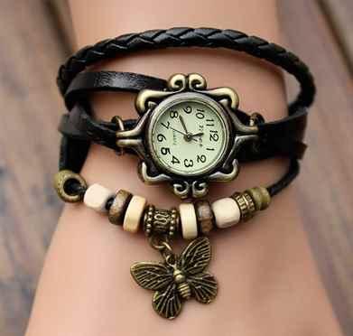 Модные часы в форме браслетов