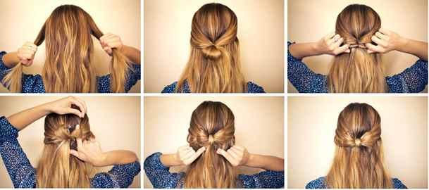 Прически на каждый день для длинных волос своими руками фото