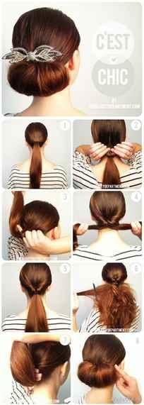 Прически на каждый день на средние волосы картинки