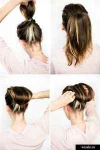 Прически повседневные на средние волосы в домашних условиях пошагово