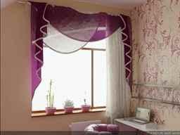 Дизайн тюли и штор на кухню фото
