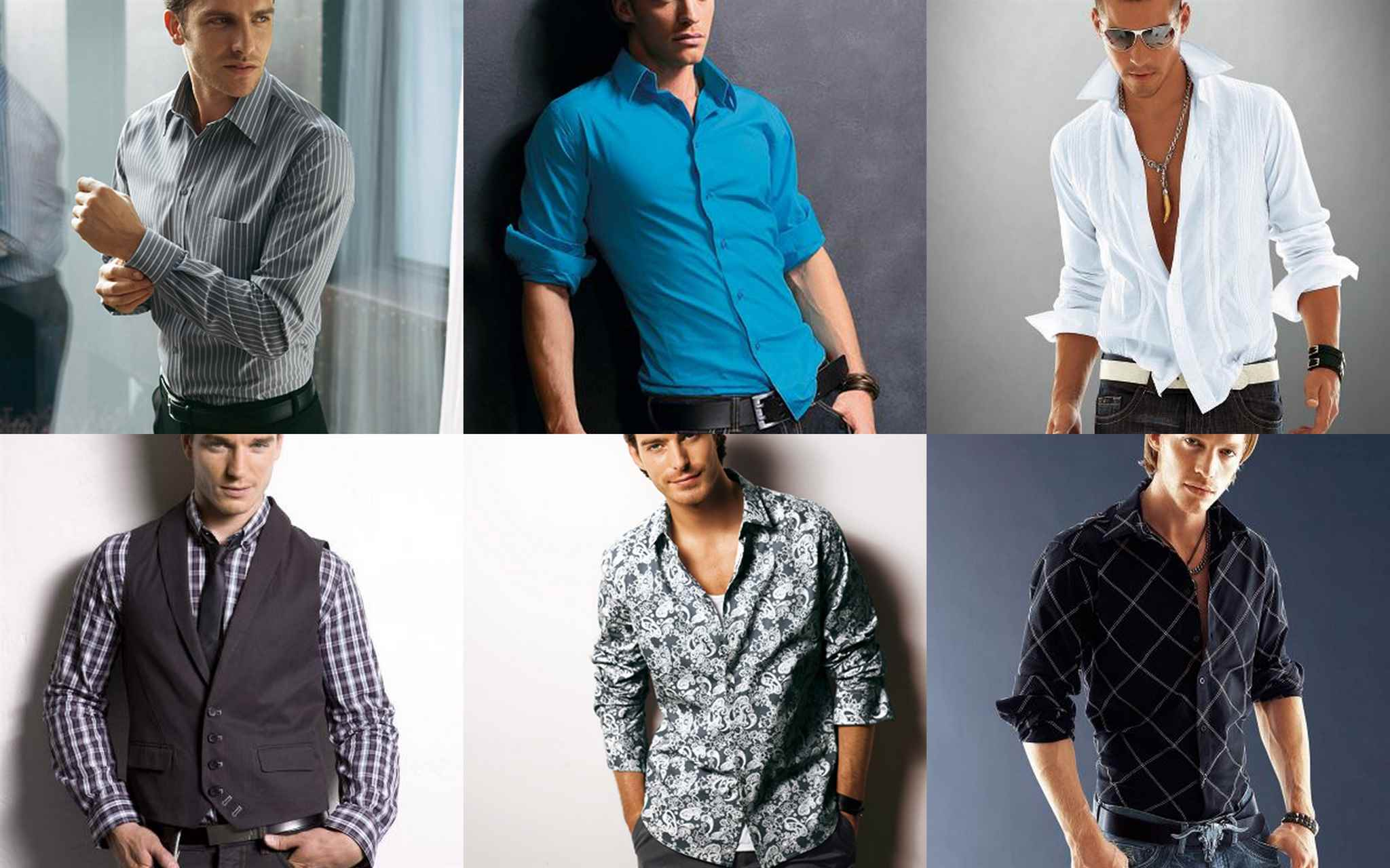 фасоны мужских рубашек