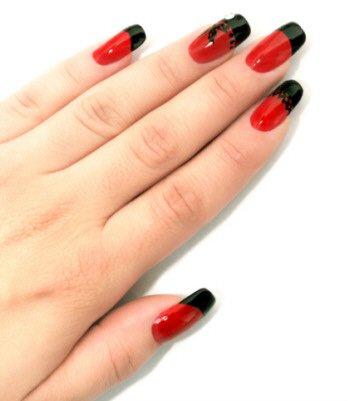 Красно черный маникюр