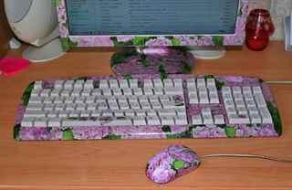 Клавиатура розовая