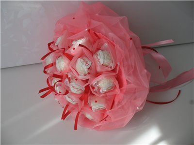Сделать букет из конфет своими руками из рафаэлло