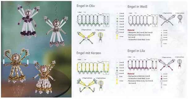 Плетение бисером схемы с ангелами