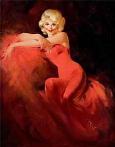 Цветной портрет Монро