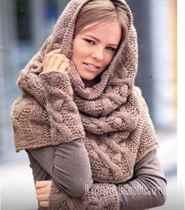 мужской шарф схемы с описанием спицами