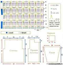 Схема кофточки