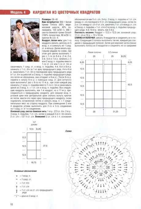 Теплый кардиган для полных крючком схемы и описание с