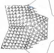 Схема вязания коврика