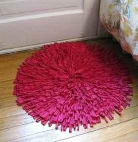 Розовый коврик