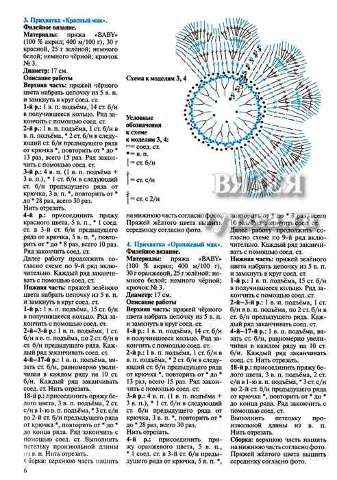 Схема и описание прихватки павлин