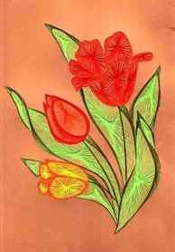Изонить схемы тюльпаны