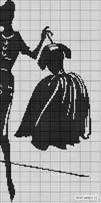 Вышивка крестиком в черно белых тонах 97