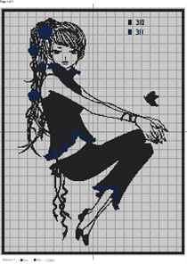 Вышивка черно белая картинки 6