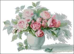 Вышивка чайные розы схема 69