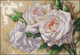 Вышивка крестом готовые работы розы