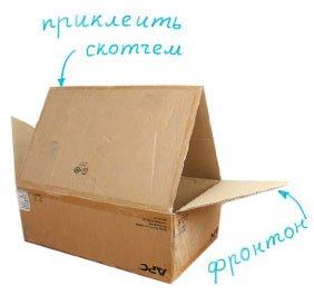 Домики для кошек своими руками из коробок фото