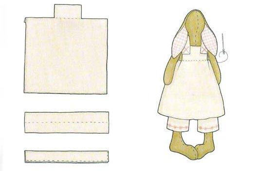 вязание одежды для зайцев тильда