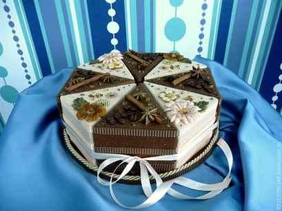 Подарок из бумаги торт 99
