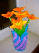 Ваза оригами из модулей: схема