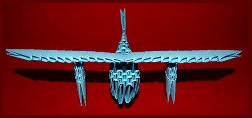оригами самолет видео