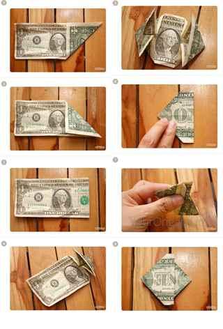 Сердечко из денег своими руками