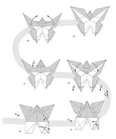 Бабочка из бумаги оригами своими руками 9