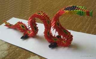оригами дракона, схема к